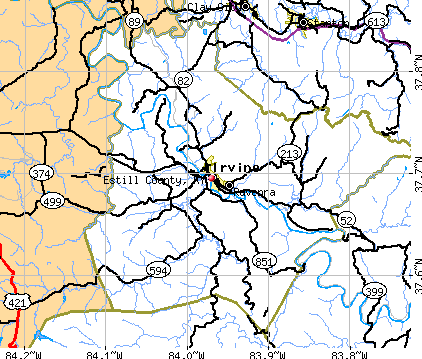 Estill County, KY map