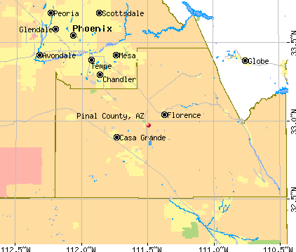 Pinal County, AZ map