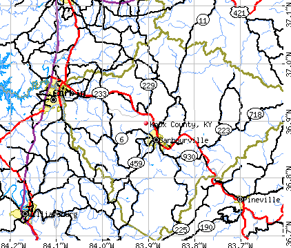 Knox County, KY map