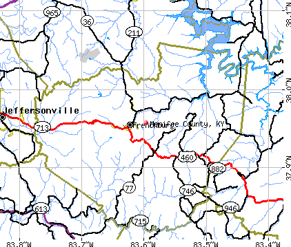 Menifee County, KY map