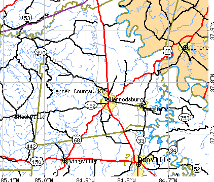 Mercer County, KY map