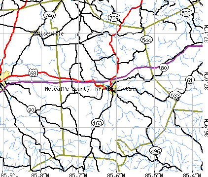 Metcalfe County, KY map