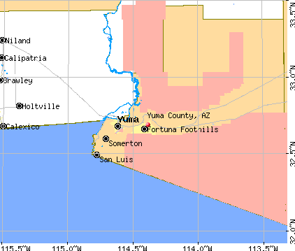 Yuma County, AZ map