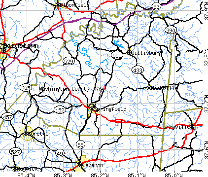 Washington County, KY map
