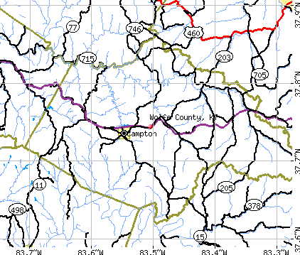 Wolfe County, KY map