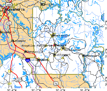 Avoyelles Parish, LA map
