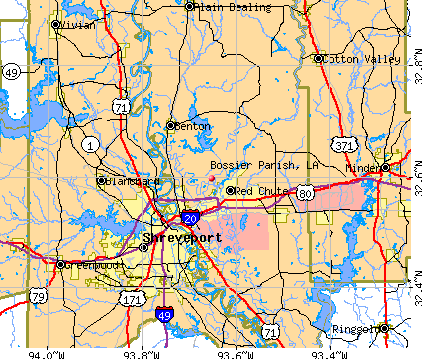 Bossier Parish, LA map