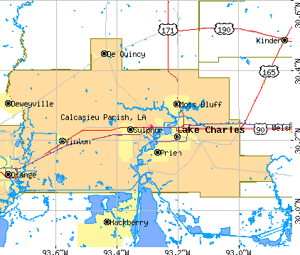 Calcasieu Parish, LA map