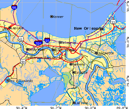 Jefferson Parish, LA map
