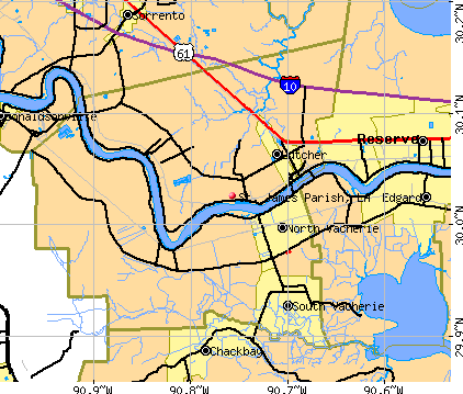 St. James Parish, LA map