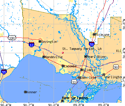 St. Tammany Parish, LA map