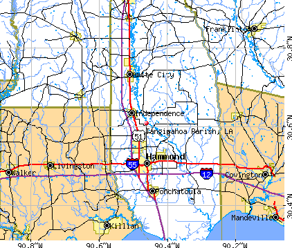 Tangipahoa Parish, LA map