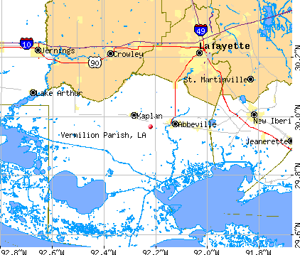Vermilion Parish, LA map