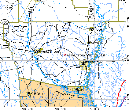 Washington Parish, LA map