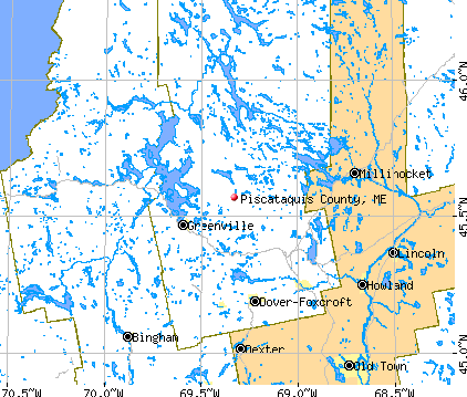 Piscataquis County, ME map