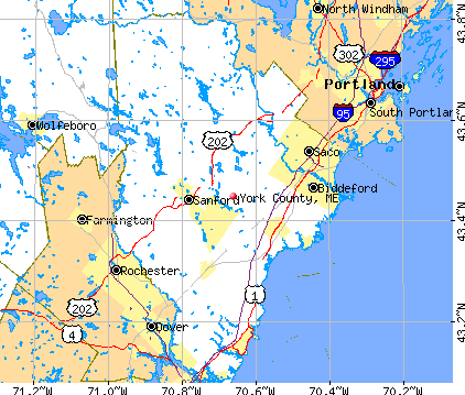 York County, ME map