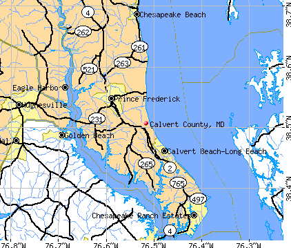 Calvert County, MD map