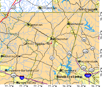 Carroll County, MD map