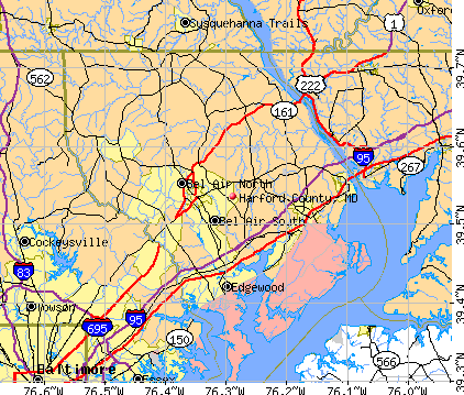 Harford County, MD map