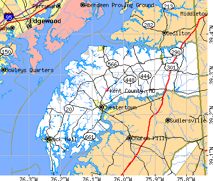Kent County, MD map
