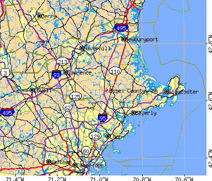 Essex County, MA map
