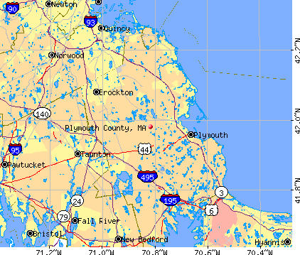 Plymouth County, MA map