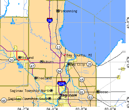Bay County, MI map