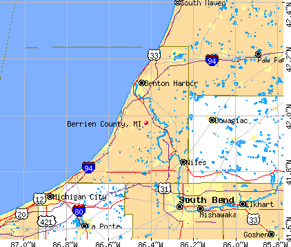 Berrien County, MI map