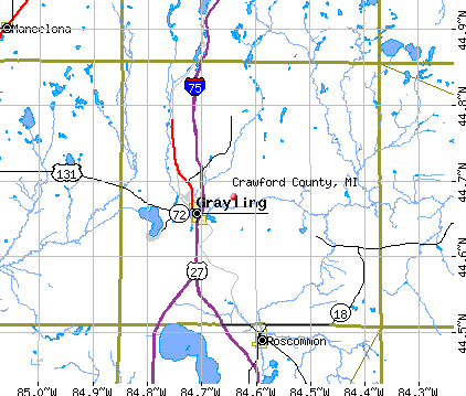 Crawford County, MI map