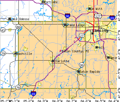 Eaton County, MI map