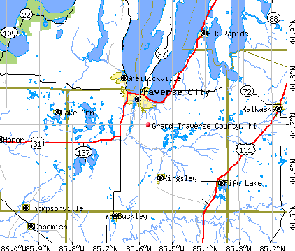 Grand Traverse County, MI map