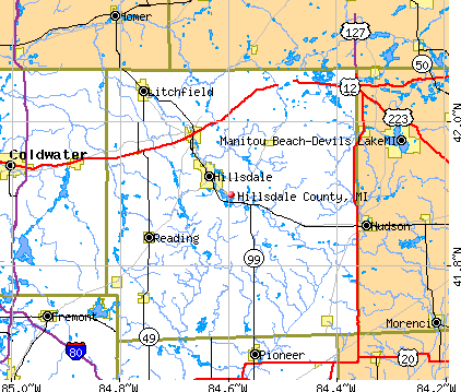 Hillsdale County, MI map