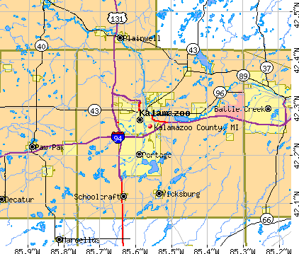 Kalamazoo County, MI map