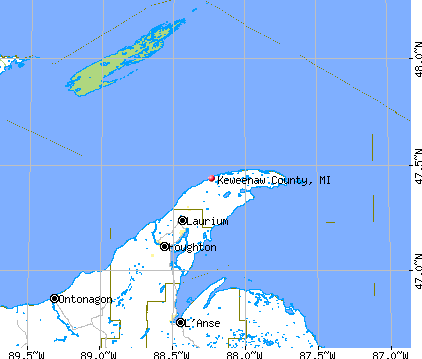 Keweenaw County, MI map