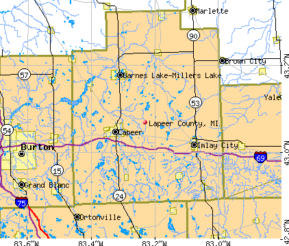 Lapeer County, MI map