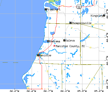 Manistee County, MI map