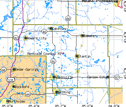 Montcalm County, MI map