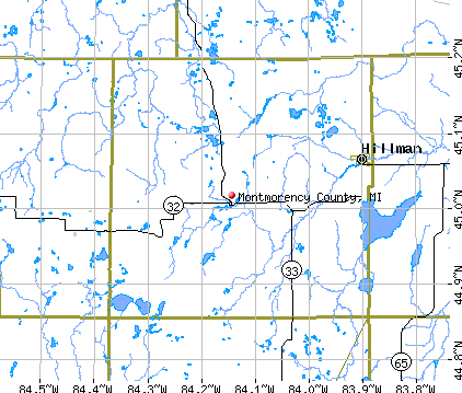 Montmorency County, MI map