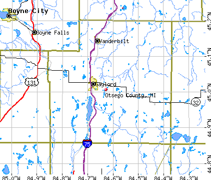 Otsego County, MI map