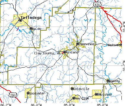 Clay County, AL map