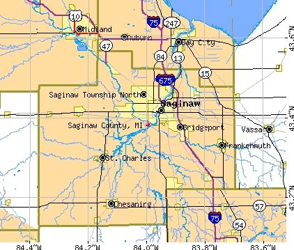 Saginaw County, MI map