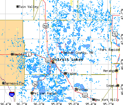 Becker County, MN map