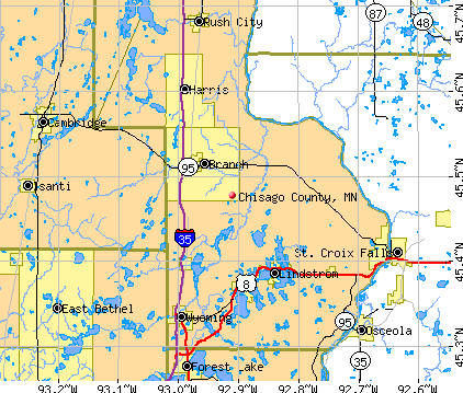 Chisago County, MN map