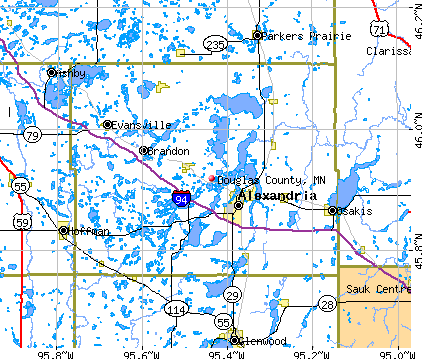 Douglas County, MN map