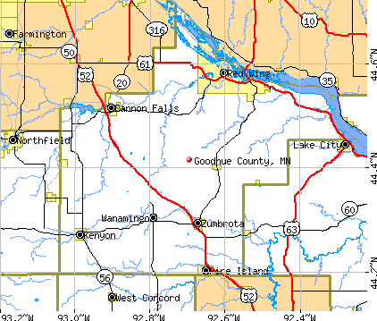 Goodhue County, MN map