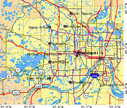 Hennepin County, MN map