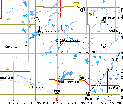 Lincoln County, MN map