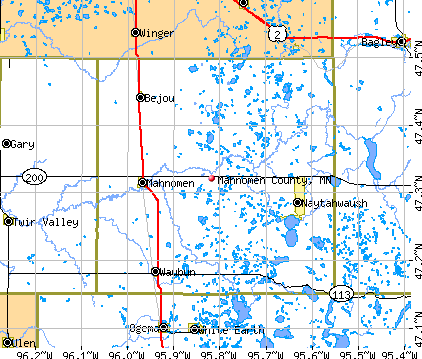 Mahnomen County, MN map