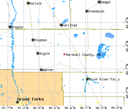 Marshall County, MN map