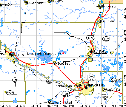 Nicollet County, MN map